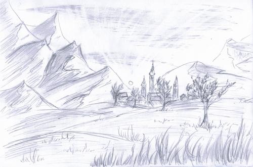 Croquis de paysage