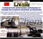 COMBUSTION SPONTANEE JAPONAISE: COLERE ACTIVISTE!.