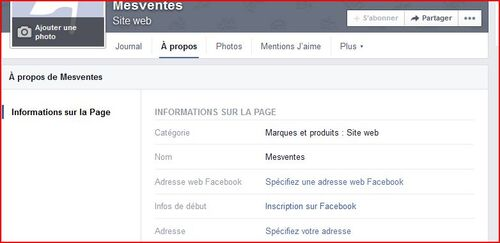 renomer une page facebook