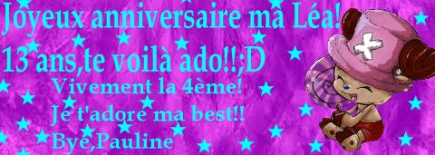 JOYEUX ANNIVERSAIRE MA BEST!!!