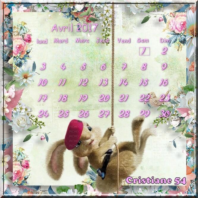 Voilà Avril et un défi pour Sissi douceur ( les calendriers )