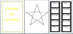 étoiles de rentrée, activité, se présneter, présentation, cp, dixmois