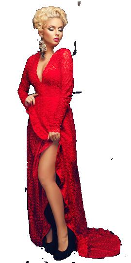 Femmes en rouge