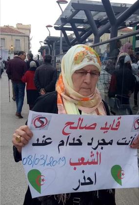 Manifestation : Gaid Salah vous n'êtes qu'un simple employé du peuple ! Attention !