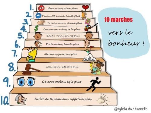 10 marches vers le bonheur