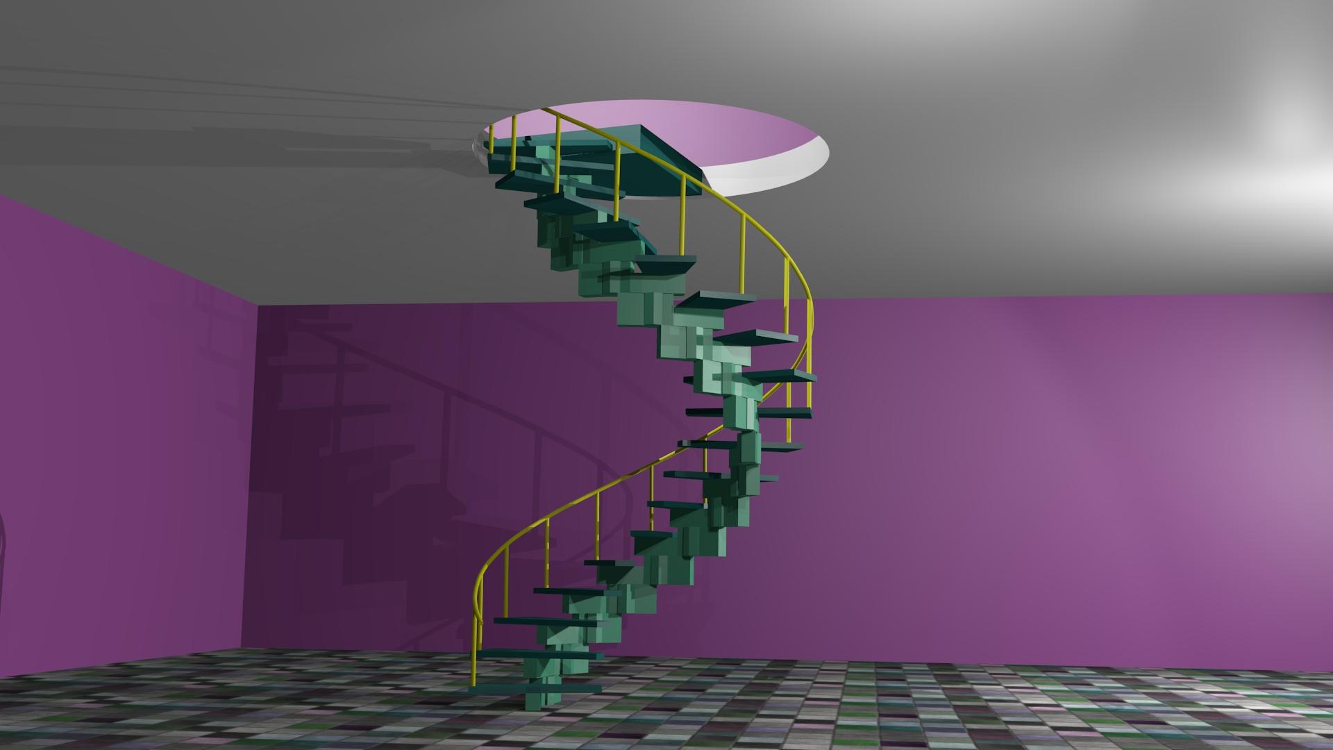 Escalier Colimacon Autoportant Polygone