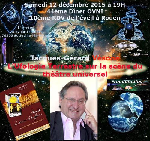 J.G. Vésone au 44ème diner OVNI à Rouen le 12 décembre 2015