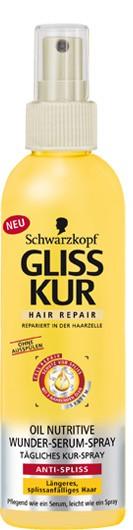 Revue : Gliss kur hair repair oil nutritive de Schwarzkopf.