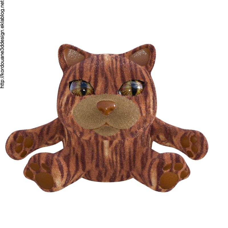 Image de chat tigré (render-tube)