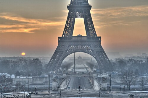 Paris glacé, par DYC