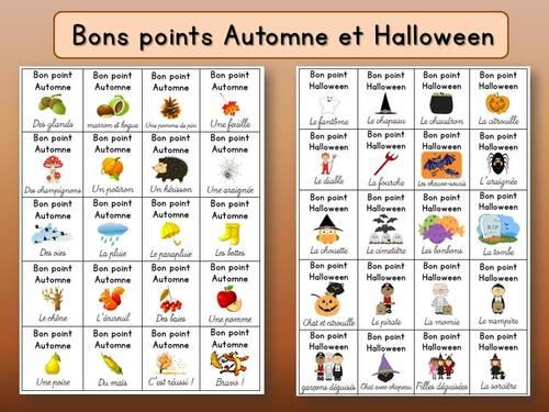 """Mes bons points """"Automne"""" et """"Halloween"""""""
