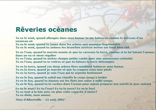 Rêveries océanes - Théa d'Albertville