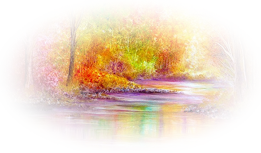 Tubes Misted paysages d'automne