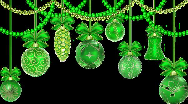 Boules de sapins en vert
