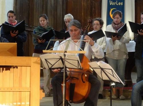 L'animation  de la semaine musicale de Saint Vorles du jeudi  30 août 2012
