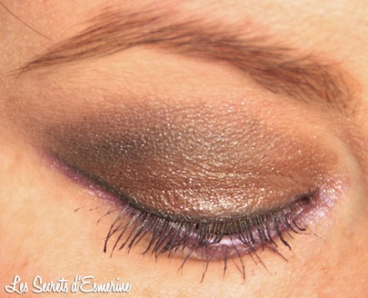 maquillage, makeup, marron, violet, yeux, kiko