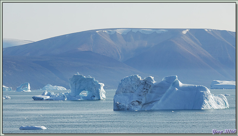 Navigation dans le Fjord Inglefield : observation d'une zone avec de très beaux icebergs - Région de Qaanaaq - Groenland