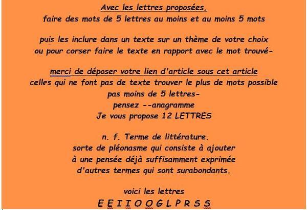 Jeu Lettres n°140