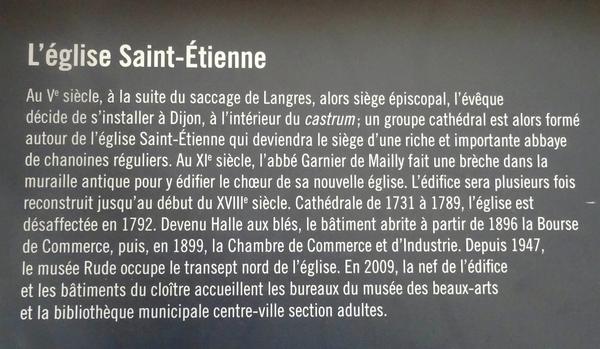 Le Musée Rude se trouve dans l'ancienne église Saint-Etienne