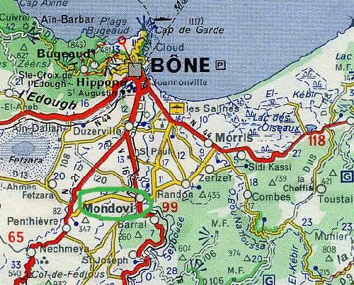 De Mondovi à Bône par la route.