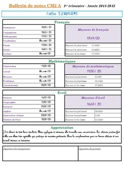 Notes et bulletins