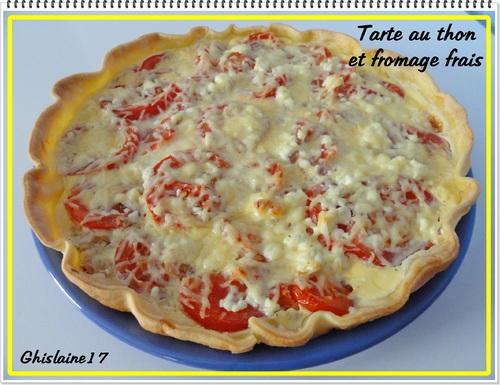 Tarte au thon et fromage frais (St Môret)