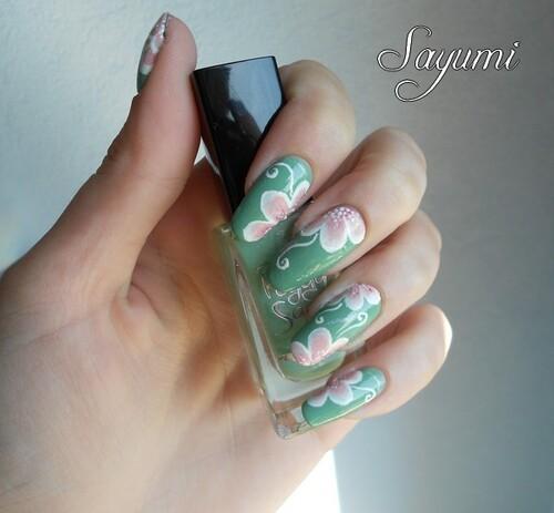 Nail Art Jardin Fleuri