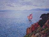 Cap Bénat, la voile rouge,  T. Van Rysselberghe