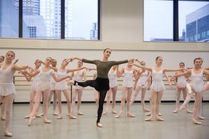 dance ballet class adagio class training