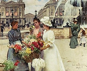 z2 Louis Marie de Schryver (French artist, 1862-1942) Flowe