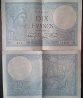 billets de 10 frs minerve 1941