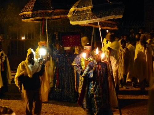 la procession d'Aksoum