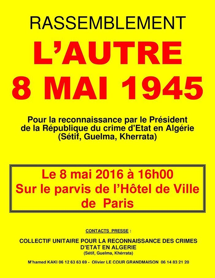 L'Autre 8 Mai 1945 : APPEL A RASSEMBLEMENT