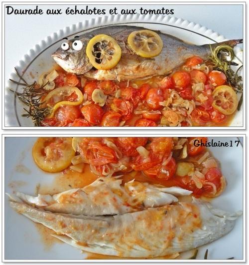 Daurade aux échalotes et aux tomates