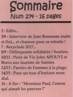 """Le journal """"De bouches à Oreilles"""" en 2017"""