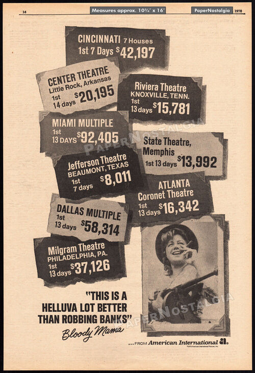 BOX OFFICE USA AVRIL 1970