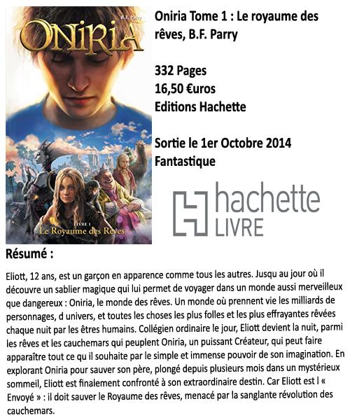 Oniria Tome 1 : Le royaume des rêves, B.F. Parry