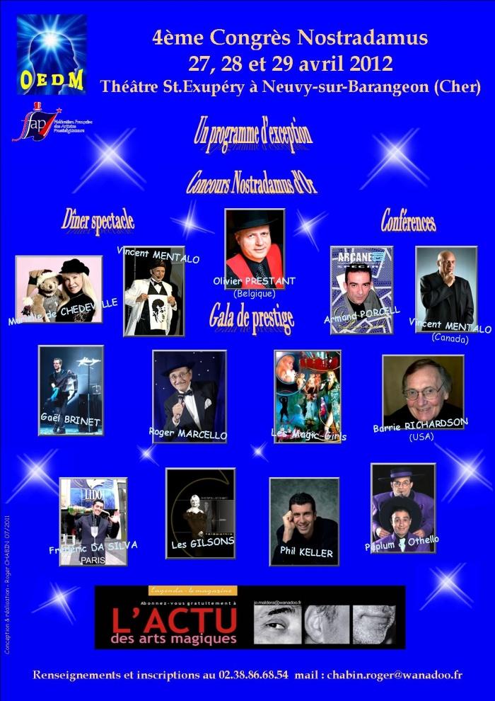 Prochainement le Congrès Nostradamus 2012 de l'OEDM