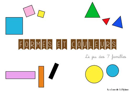 Jeu de 7 familles sur les formes et les couleurs
