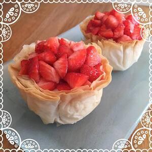 Coroles de fraises mascarpone & beurre de cacahouète