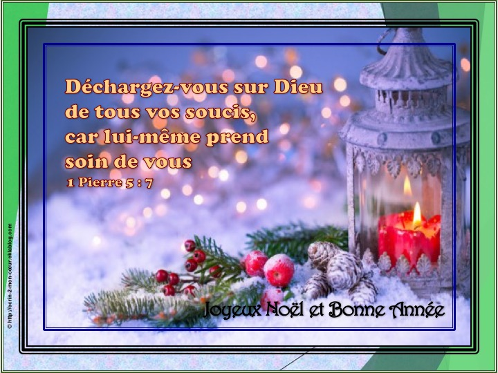 Bonne et Heureuse Année - 1 Pierre 5 : 7