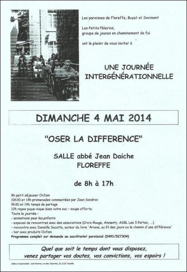 Une journée intergénérationnelle (4 mai 14)