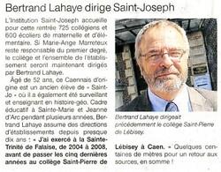 Un nouveau chef d'établissement à Saint Joseph