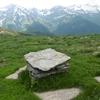 Monument frontière sous le sommet du pic d\'Aubas
