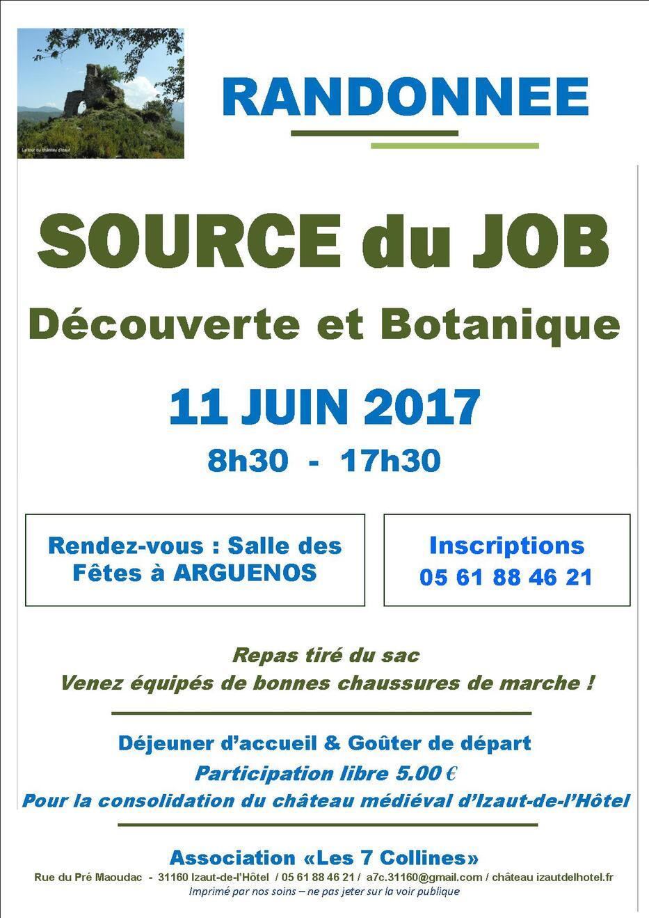 2017 : Promenade à la source du Job le 11 juin 2017