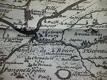 Carte du XVIII-XVIIIème sièclr