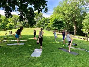 dance ballet yoga park yoga