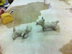 Argile, fabrication d'animaux