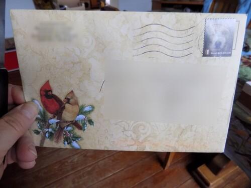 Un colis de ma fille et une jolie carte