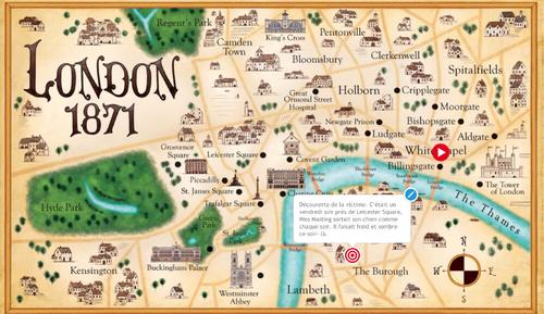 Écrire une aventure de sherlock Holmes en storymap